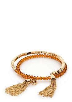 Vera Bradley Beaded Coil and Tassel Bracelet
