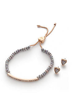 Vera Bradley You Make My Heart Smile Bracelet and Earrings Set