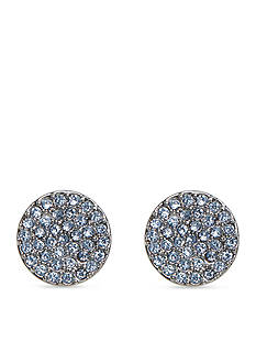 Vera Bradley Pave Disc Stud Earrings
