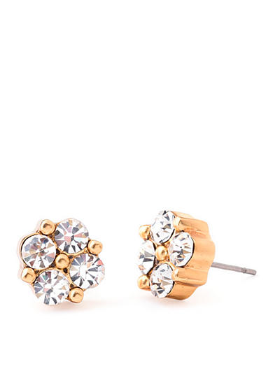 spartina 449 18 KT Gold-Plated Clover Gem Stud Earrings