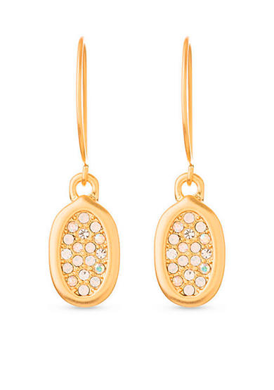 spartina 449 18K Gold-Plated Oval Pave Drop Earrings