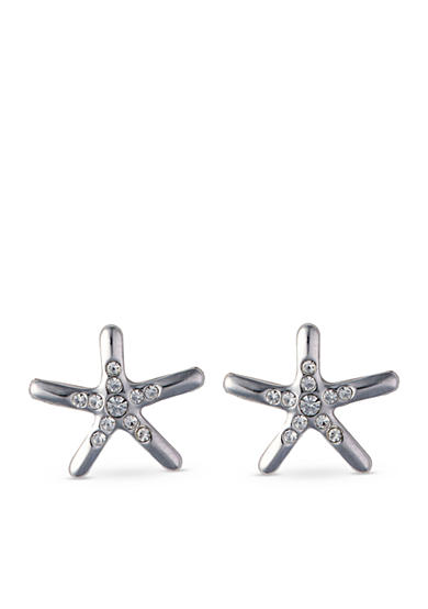 spartina 449 Silver-Tone Sea La Vie Shine Starfish Stud Earrings