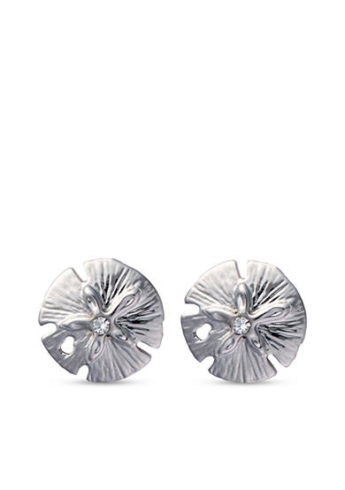 spartina 449 Silver-Tone Sea La Vie Sea Wonders Sand Dollar Stud Earrings