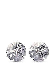 spartina 449 Silver-Tone Sea La Vie Sea Wonders Sand Dollar Stud Earrings
