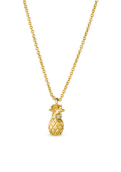 spartina 449 18K Gold-Plated Sea La Vie Thanks Pineapple Necklace