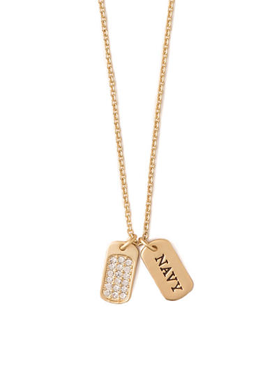 spartina 449 18K Gold-Plated Sea La Vie Navy Pendant Necklace
