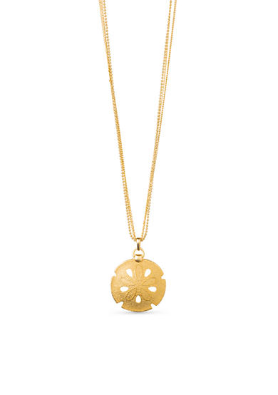 spartina 449 18K Gold-Plated Silver Dollar Pendant Necklace