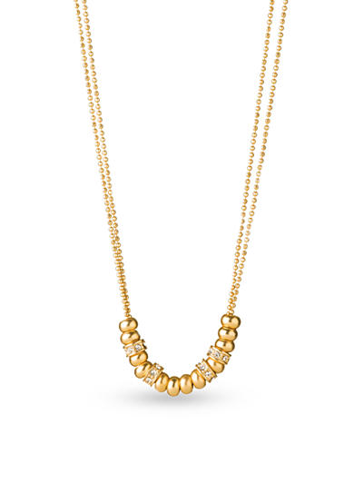 spartina 449 18k Gold-Plated Simply Beaded Crystal Necklace