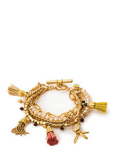 spartina 449 18K Gold-Plated Bohemian Charm Bracelet