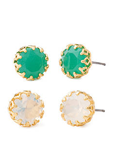 spartina 449 Gold-Tone Vintage Bauble Stud Earring Set