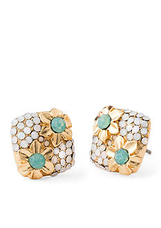 spartina 449 18K Gold-Plated Floral Button Earrings