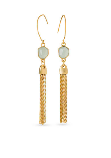 spartina 449 18K Gold-Plated Agate Tassel Earrings