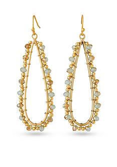 spartina 449 18K Gold-Plated Beaded Sea Foam Raindrop Earrings