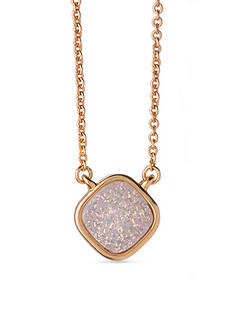 spartina 449 18K Gold-Plated Sea La Vie Breathe Druzy Pendant Necklace