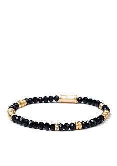 spartina 449 Gold-Tone Black 4MM Stretch Bracelet