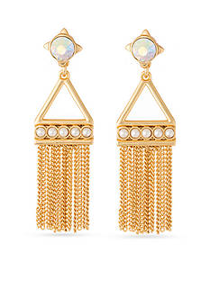 spartina 449 Gold-Tone Mod Pearl Tassel Earrings