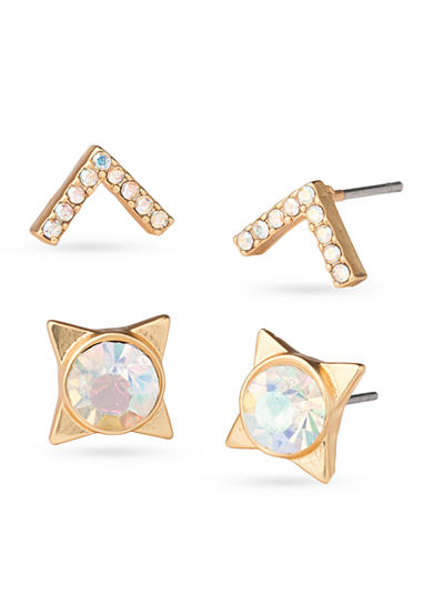 spartina 449 Gold-Tone Mod Pearl Stud Earring Set