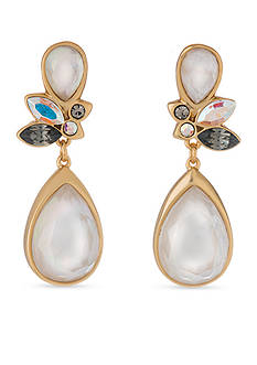 spartina 449 18K Gold-Plated Pearlescent Peacock Earrings