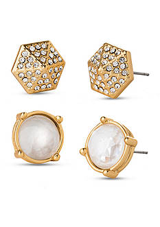 spartina 449 Gold-Tone Pearl Gala Stud Earring Set