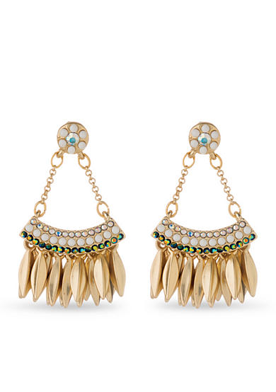 spartina 449 Gold-Tone Peacock Swing Earring