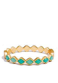 spartina 449 Gold-Tone Deco Drama Sea Foam Bangle Bracelet