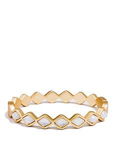 spartina 449 Gold-Tone Deco Drama Pearl Bangle Bracelet