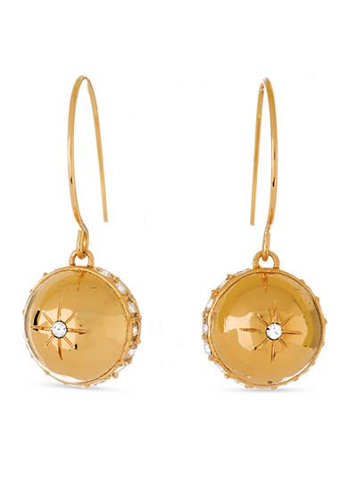 spartina 449 18K Gold-Plated Shiny Starburst Drop Earrings