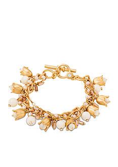 spartina 449 Gold-Tone Bellflower Toggle Bracelet