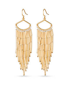 spartina 449 Gold-Tone Liquid Gold Beaded Chandelier Earrings