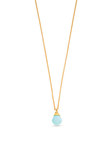 spartina 449 18K Gold-Plated Sea La Vie Relax Water Pendant Necklace