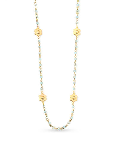 spartina 449 18K Gold-Plated Magnolia Beaded Necklace