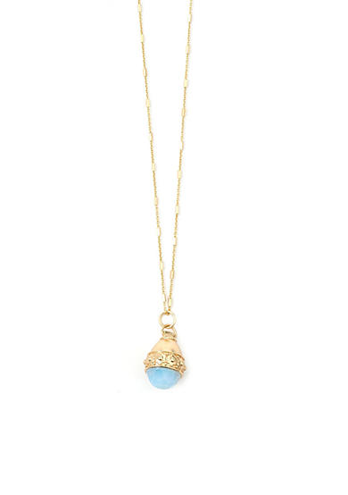 spartina 449 18 KT Gold-Plated Magnolia Bauble Opal Necklace