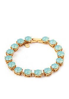 spartina 449 18K Gold-Plated Blue Swarovski Tennis Bracelet