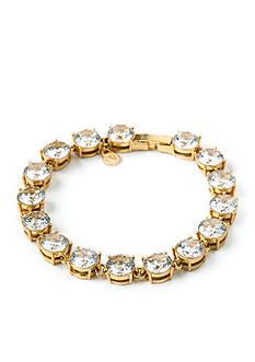 spartina 449 18K Gold-Plated Crystal Tennis Bracelet