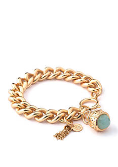 spartina 449 18K Gold-Plated Magnolia Bauble Sea foam Bracelet