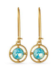 spartina 449 18K Gold-Plated Bazaar Blue Drop Earrings