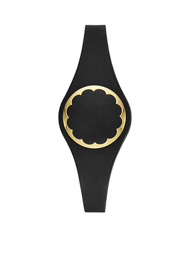 kate spade new york® Connected Gold-Tone and Black Scallop Tracker