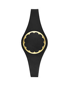 kate spade new york Connected Gold-Tone and Black Scallop Tracker