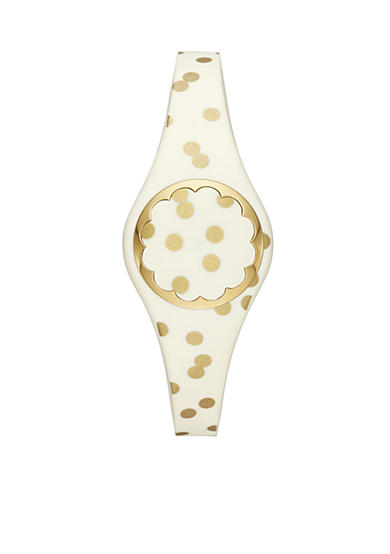kate spade new york® Connected Women's Gold-Tone And Cream Scallop Tracker