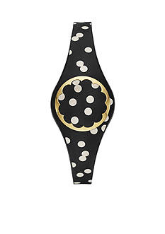 kate spade new york® Connected Gold-Tone And Black-And-White Scallop Tracker