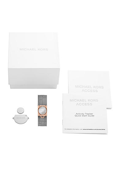 Michael Kors Connected Women's Rose Gold-Tone and Grey Tracker