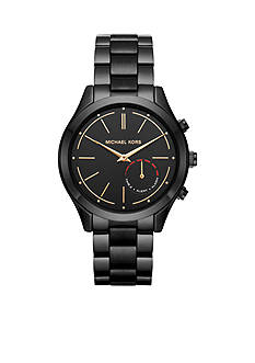 Michael Kors Women's Slim Runway Black IP Hybrid Smartwatch