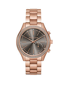 Michael Kors Access Slim Runway Rose Gold-Tone Hybrid Smartwatch