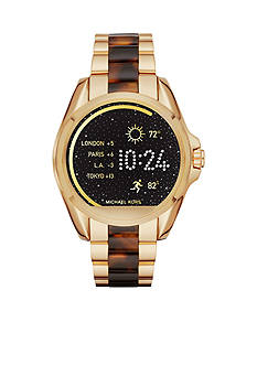 Michael Kors Connected Women's Bradshaw Gold-Tone and Tortoise Smartwatch
