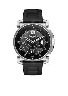 Diesel Connected Men's On Time Leather Hybrid Smartwatch