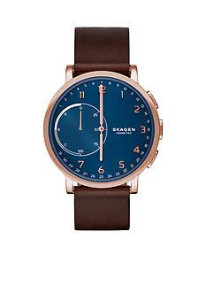 Skagen Hagen Connected Leather Hybrid Smartwatch