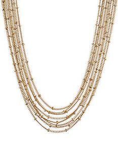 Gloria Vanderbilt Gold-Tone Basic Chain Ball Necklace