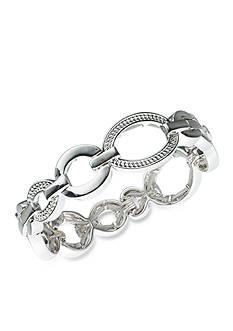 Gloria Vanderbilt Silver-Tone Basic Oval Bracelet