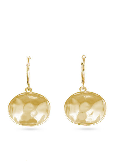 Gloria Vanderbilt Gold-Tone Basic Earrings