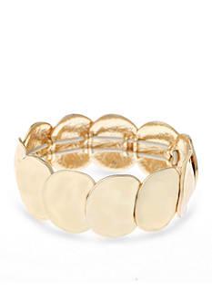 Gloria Vanderbilt Gold-Tone Basic Stretch Bracelet